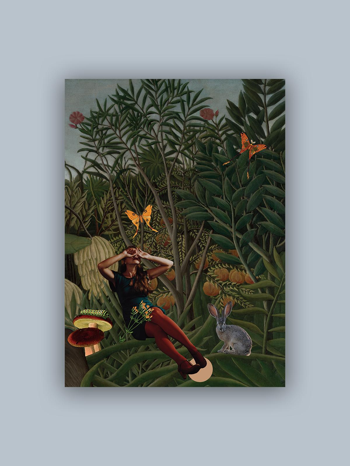 """Kolaż, plakat dekoracyjny """"Trochę Alicja w Krainie Czarów"""""""