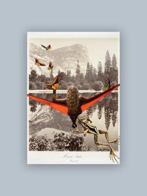 """Kolaż, plakat dekoracyjny """"Pocztówka z wakacji"""""""