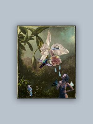 """Kolaż, plakat dekoracyjny """"Rajska wyspa"""""""