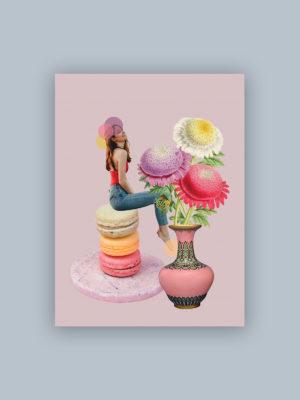 """Kolaż, plakat dekoracyjny """"Słodkie doznanie"""""""