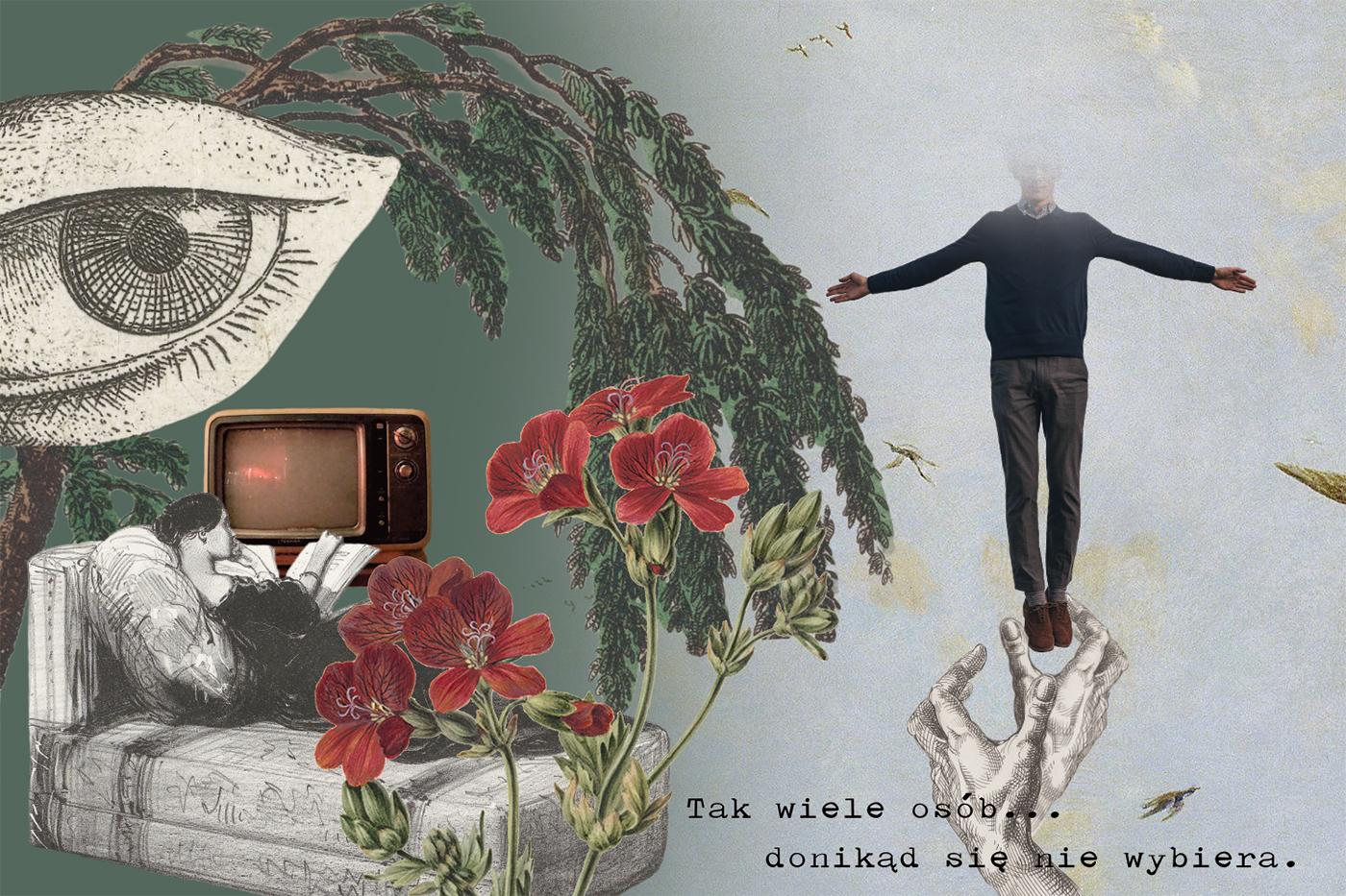Ilustracja do wierszy Dominika Bielickiego dla Magazynu Wizje