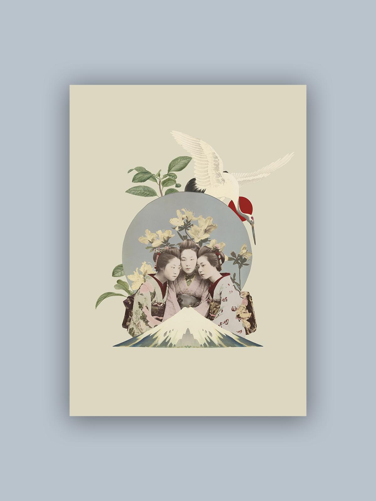 """Kolaż, plakat dekoracyjny """"Japonia"""""""
