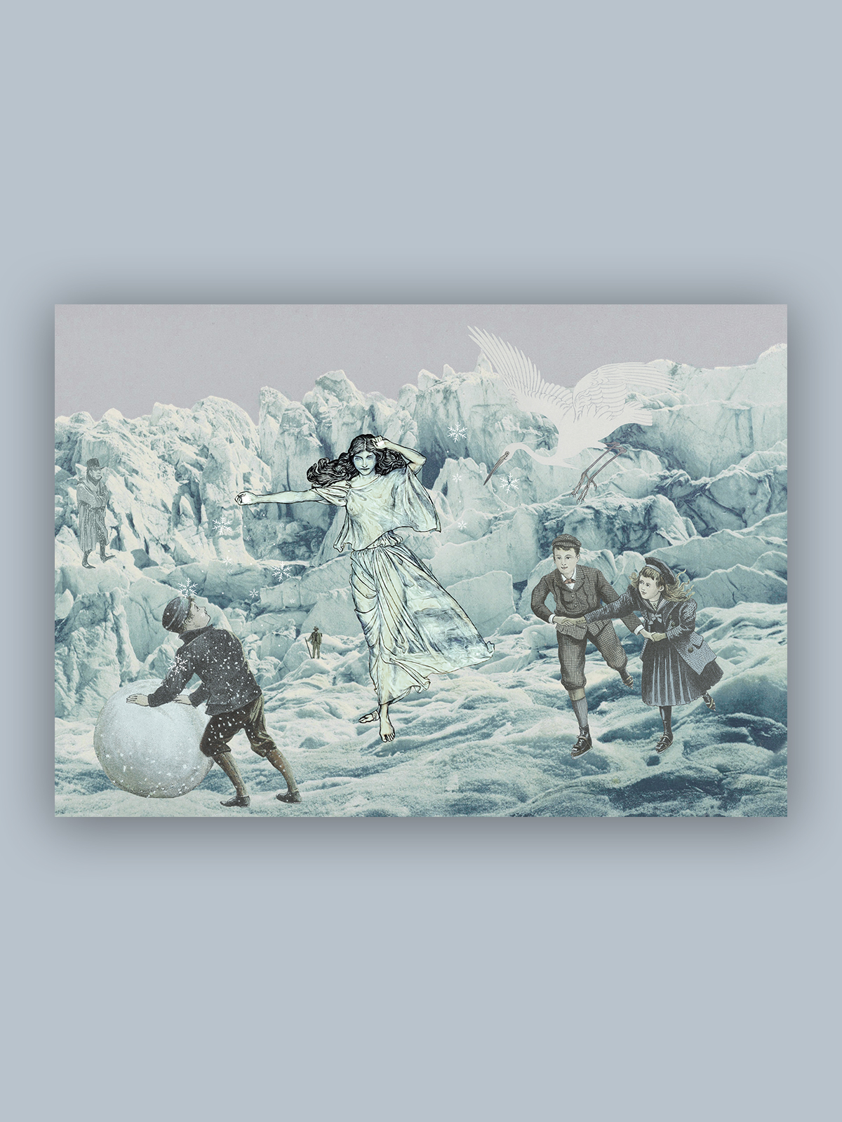 """Kolaż, plakat dekoracyjny """"Królowa Śniegu"""""""