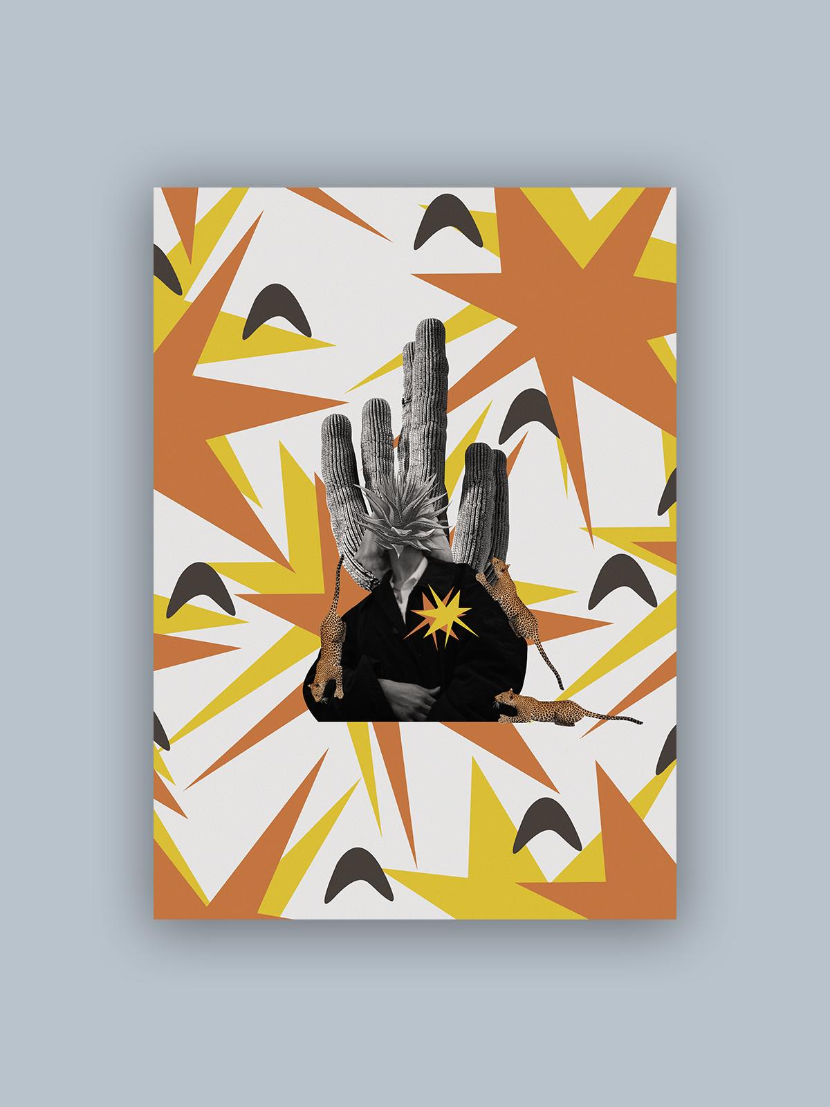 """Kolaż, plakat dekoracyjny """"Dzikie serce"""""""