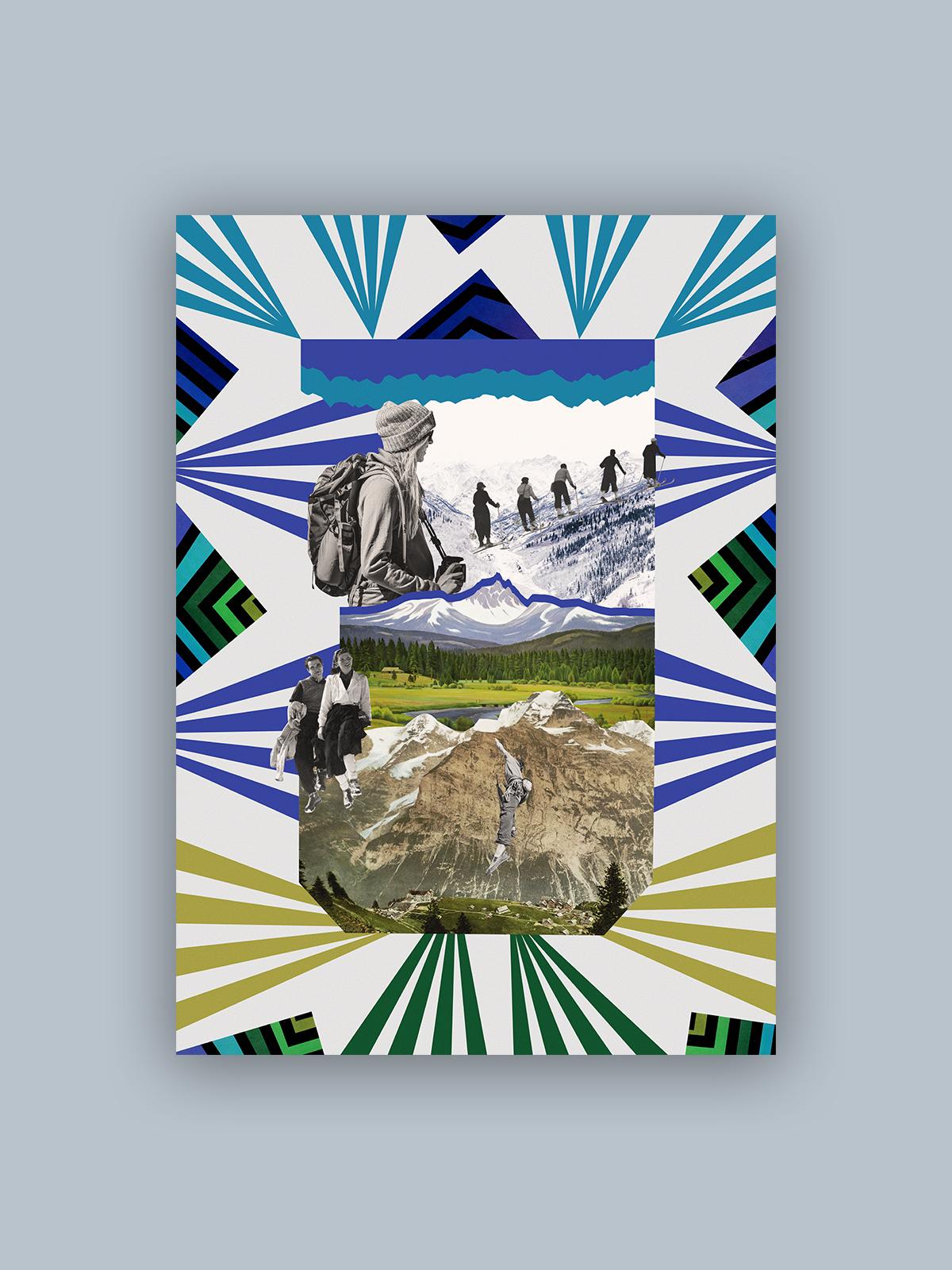 """Kolaż, plakat dekoracyjny """"Góry"""""""