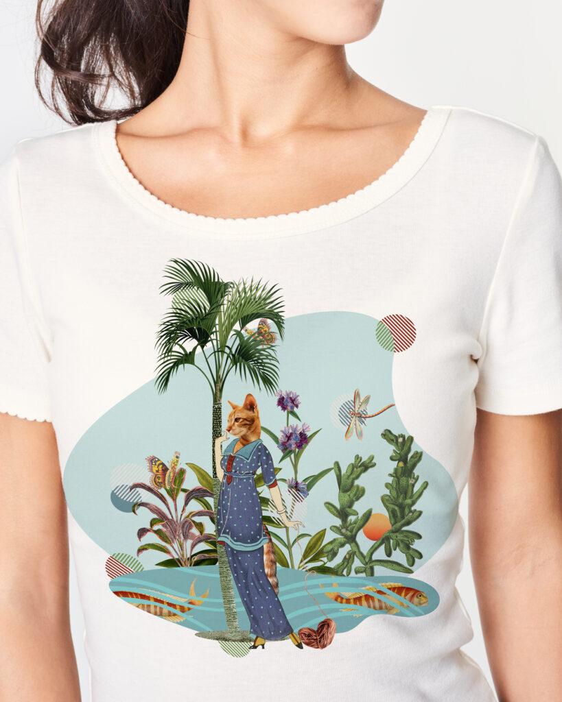 T-shirt - wizualizacja - Into collage